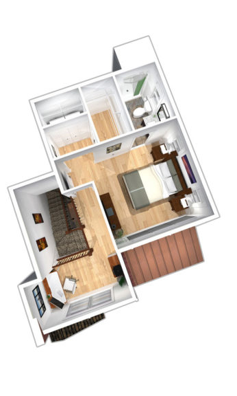 """Units A & C second floor plans in """"Paddocks"""" unit at The Lofts At Saratoga"""