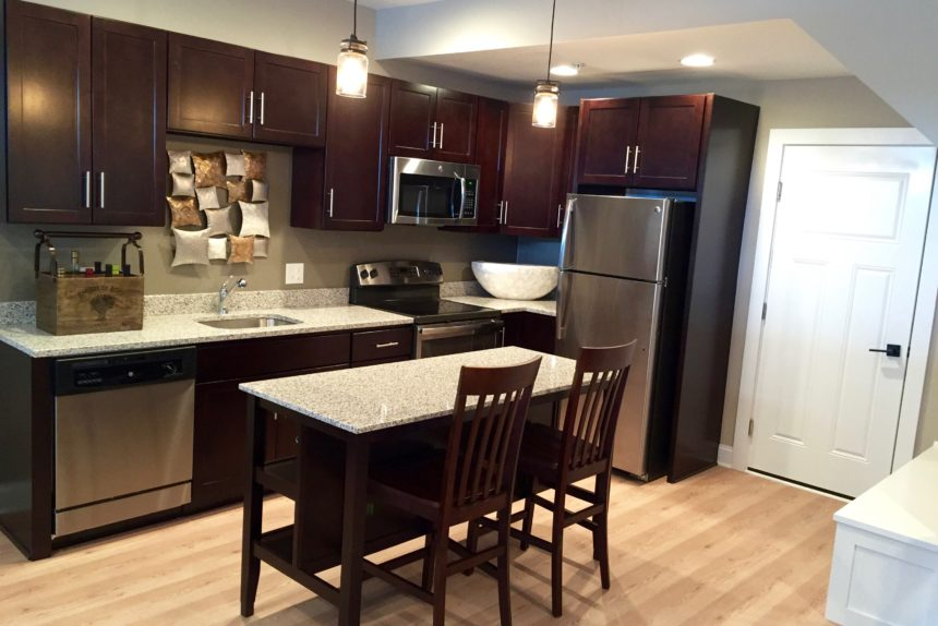 "Kitchen in ""Paddocks"" unit at The Lofts At Saratoga"